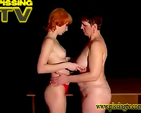 Monica and Kamila are 2 ladies pissing with pleasure on camera
