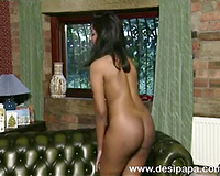 Busty British Indian sweetheart Leena flashes her goodies
