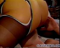 Two kinky hotties enjoying ardent Male+Male+Female threesome
