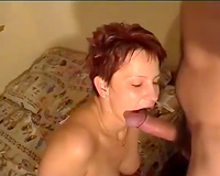 Redhead euro hooker masturbates previous to engulfing 10-Pounder