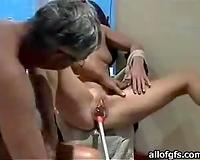 Horny aged pair is freaky masturbation sex movie