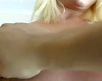 That concupiscent blond wanted to try out anal sex on POV movie scene