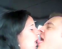 Polish floozy loved to engulf big cock in the car