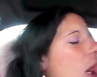 Polish floozy loved to engulf big cock in the car