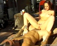 Sizzling redhead mom acquires drilled missionary style outdoor