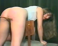My resigned pale and bootyful GF can't live without arse spanking time