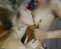 Oustanding group sex clip with vintage white harlots