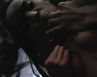 Cock crazed dark nymphos take part in Male+Male+Female 3some