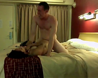 Wonderful black haired Vietnamese breasty hooker rides my fellow ally on top