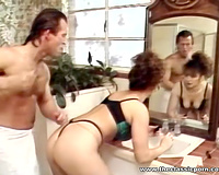 Super hawt and perverted white honey got her slit team-fucked from behind