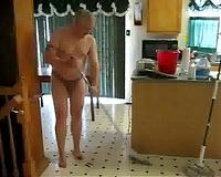 hotwife makes him clean