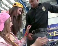 Black police officer blown by teenage angels