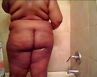 Just a large chunk of a phattie of my dirty slut wife in the shower room