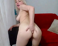 Hot white Russian wazoo of a blond webcam juvenile whore