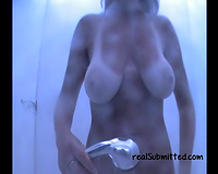 Stunning large natural milk shakes of a hawt and hot beach white wife