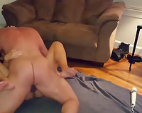 Extremely hardcore missionary fuck with dirty-minded penis hungry housewife