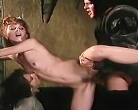 Lean and restless freak cuties love medieval style fuckfest