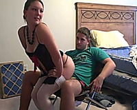 My sizzling hawt GF with firm booty knows how to give a lapdance