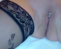 Hardcore fisting for my older cheating wife with pierced wet crack