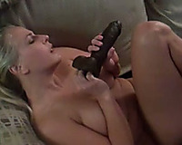 My sexual wife with large bazookas is addicted to her vibrator