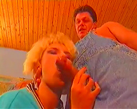 Rare retro porn movie scene of redneck women engulfing and riding cocks