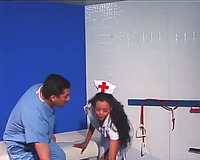 Cocksucking sultry nurse shows her professional skills