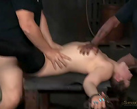Hardcore FMM BDSM 3some with naughty white bitch