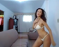 Classy Brazilian BBC slut Claudia shows me how that babe shakes her big booty