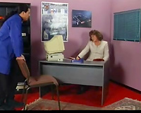 Mature white office white lady acquires rug munch from freaky black skin guy