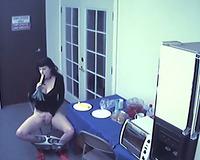 Hidden camera caught my secretary masturbating in the office