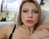 Sensual non-professional blond lets a man smash her outstanding anus