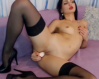 lengthy dark haired camgirl compilation