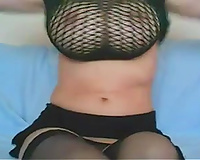 Torrid livecam anon mother I'd like to fuck is playing with her fantastic massive saggers