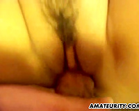 Amateur girlfriend with big billibongs sucks and copulates with creampie