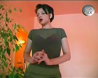 Short-haired dark brown german black cock sluts getting undressed on web camera
