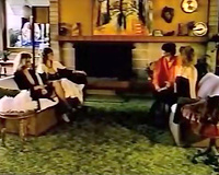Vintage lesbian foursome act with hawt retro hotties