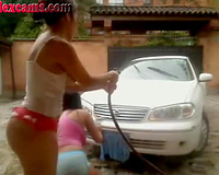 These supremely hot camgirls know the most excellent the technique of car wash
