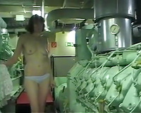 Solo clip with my colleague stripping at her work place