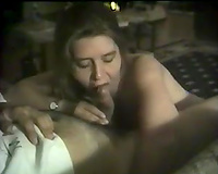 Busty non-professional white married neighbour gives me a quick head