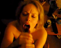 Busty blond chick sucks my BBC deepthroat lust for bulky spunk flow in her throat