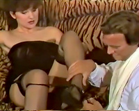 Busty blond cougar sucks wang for hardcore sex on the bed