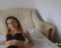 Horny Girlfriend Big Cock Deep Sucking