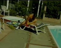 Seductive blond babe Fiona acquires fucked near the pool