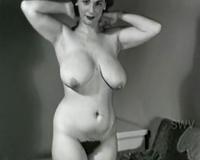 Unbelievable breasty brunette hair vintage playgirl dancing on web camera
