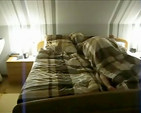 Amateur hotwife of my neighbour cheating on him in my loft bedroom