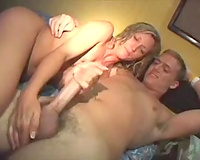Roommate acquires a handjob from a college whore at the dorm room