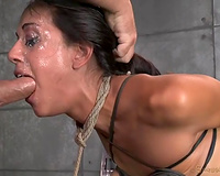 Breast thraldom and hardcore fuck with dirty-minded dark brown girlie