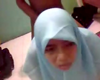 Hijab horny non-professional whore got nailed doggy style on cam by her stud