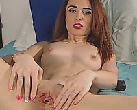 Hot Redhead Pounding Her Holes