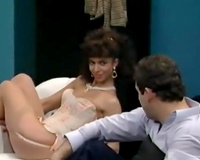 Vintage sex scenes compilation with bootyful frunette and thin wench